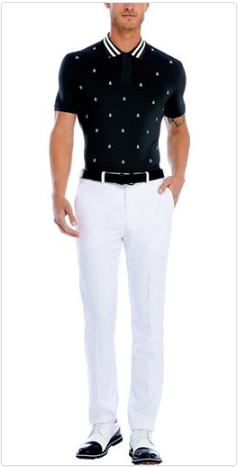 Skull & T's Embroidered Polo & Core Straight Leg Trouser