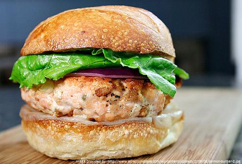Super Salmon Burger