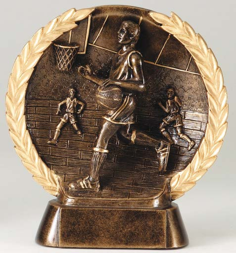 Minneapolis Trophies and Awards: Basketball bronze trophy