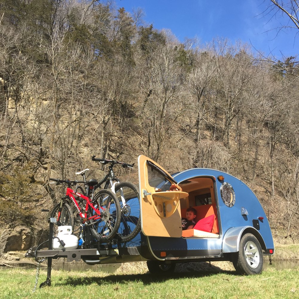 Vistabule teardrop trailer bike rack.JPG