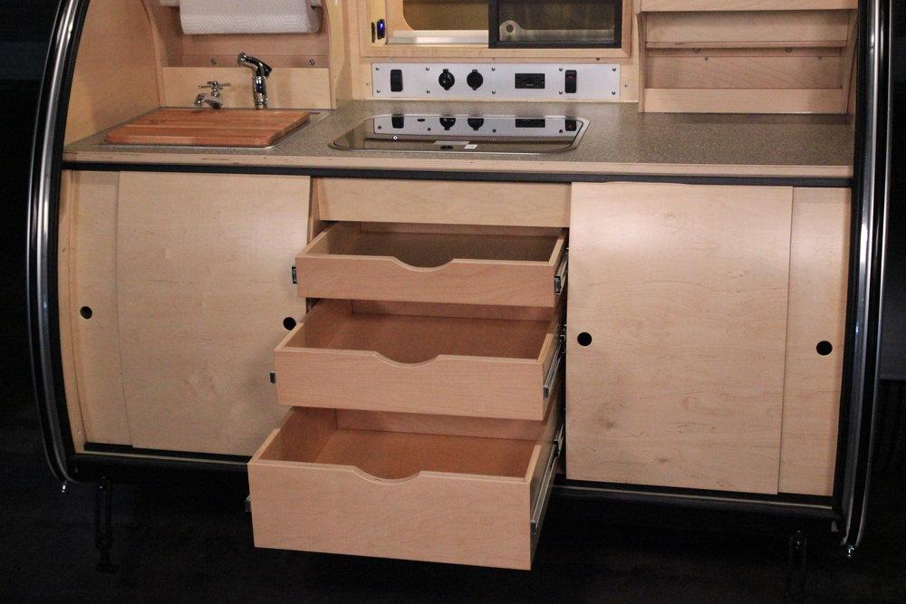 Vistabule 3 drawer cabinet (under stove).JPG