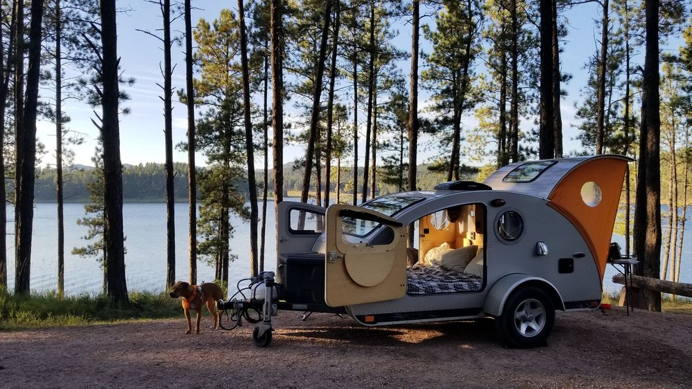 Vistabule teardrop camper trailer outdoor doggo.jpeg