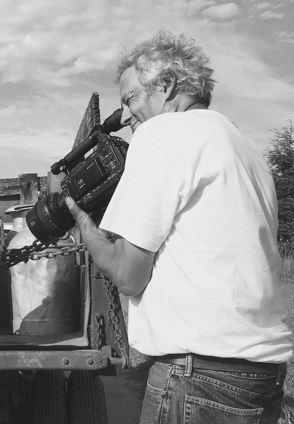 George Woodard filming The Farm Boy