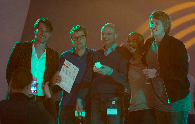 Meet-Magento Award winnaar Koffiecentrale.nl met MediaCT (Tjitte Folkertsma) en E-activists
