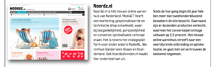 Beste case Emerce Noordz.nl MediaCT