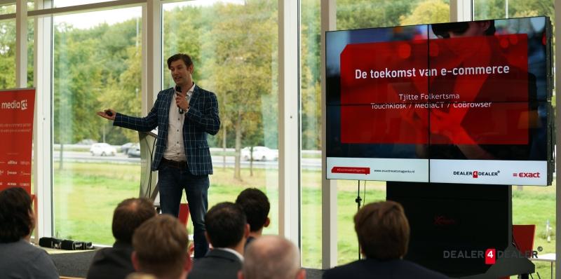 Tjitte Folkertsma presenteert bij Exact meets Magento 2014