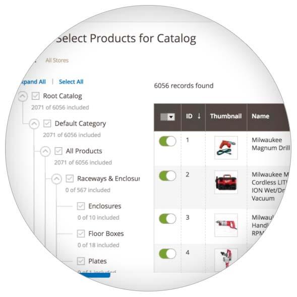 MediaCT Magento B2B gedeelde categorieën