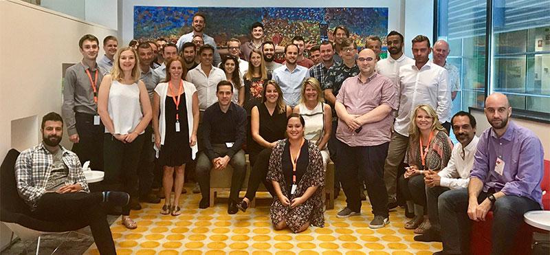 Magento partners en collega's s uit heel Europa tijdens de Magento Quick Start training.