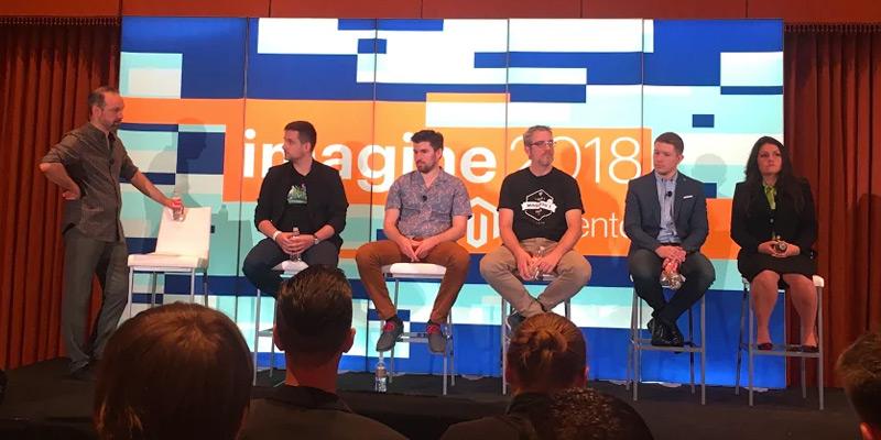 Het PWA panel tijdens Magento Imagine 2018
