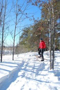 snowshoeing on the Oberholtzer Trail