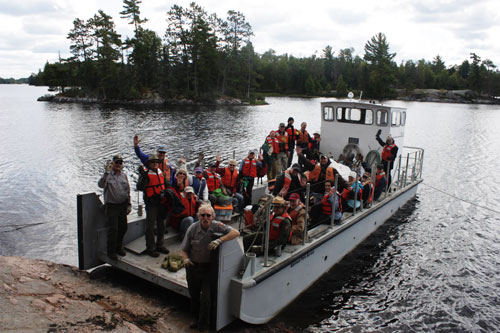 Volunteers in Voyageurs National Park