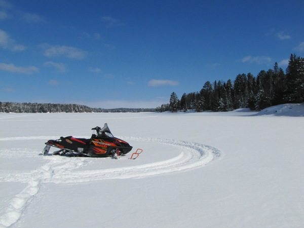 Snowmobiling in Voyageurs National Park