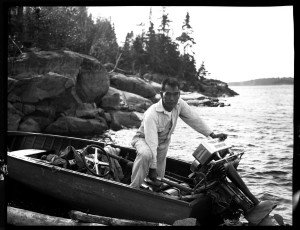 Jun Fujita on Rainy Lake in 1931. Photo courtesy of the Graham and Pam Lee Collection.