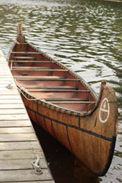 A traditional Voyageur canoe
