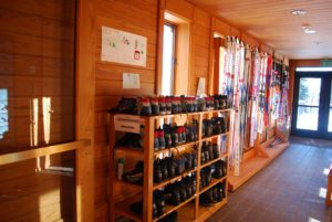 Skis at the Rainy Lake Visitor Center