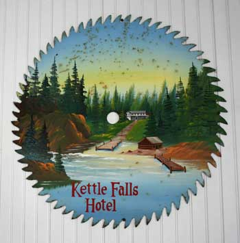 Artwork in the Kettle Falls Hotel. Kat Audette-Luebke