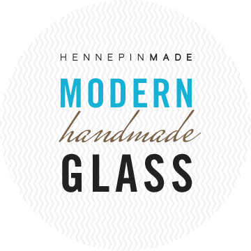 - A unique handmade glass piece from Hennepin Made