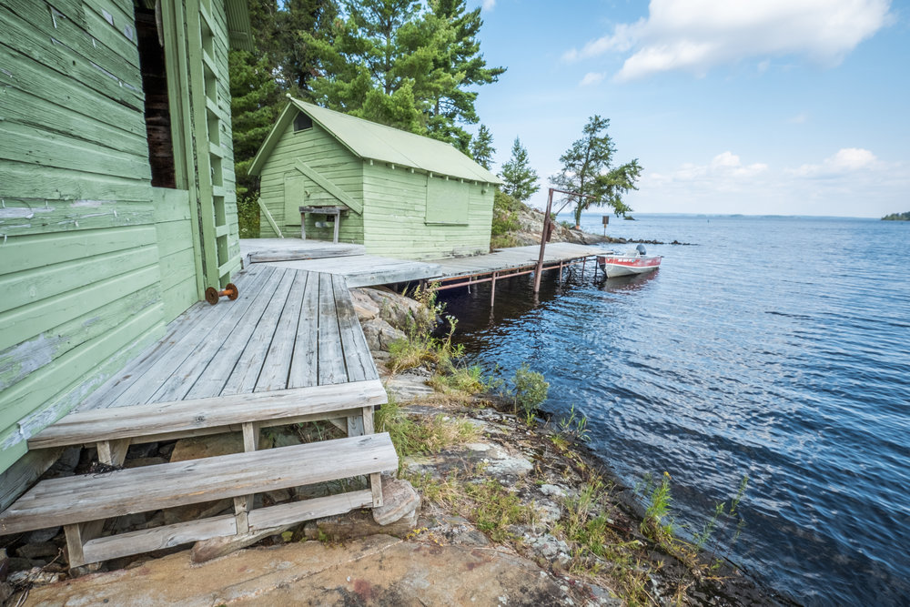 Voyageurs National Park Association recently helped fund the new educational panels at the Oveson Fish Camp site in Voyageurs National Park!   Photo by Linda Webster