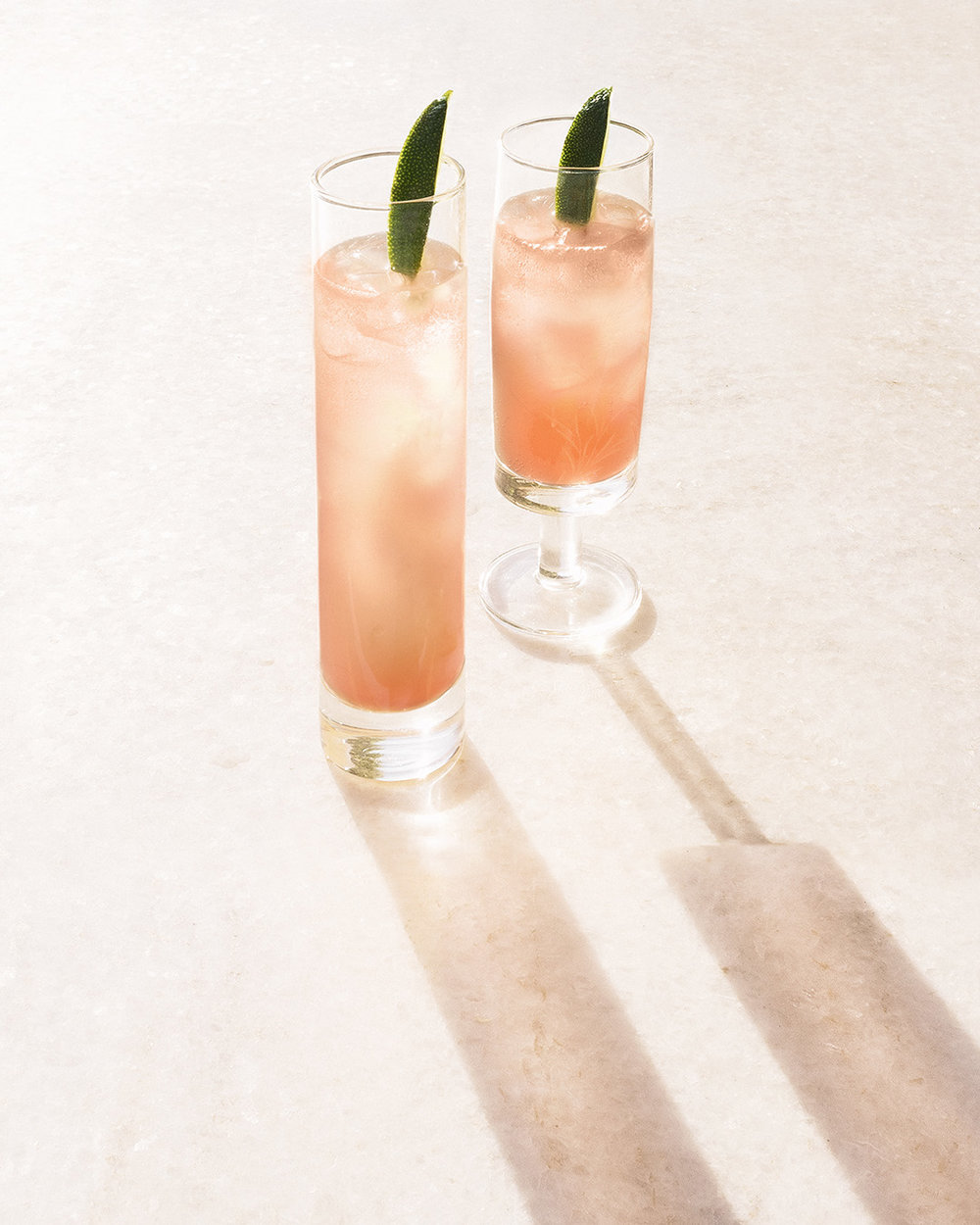 WHIPPET   2  oz  Pomp & Whimsy 2  oz  grapefruit juice 2  oz  tonic   Short shake the P&W and grapefruit juice; pour over ice in a highball glass.     Top with the tonic and a squeeze of lime. Give it a quick whirl and serve.