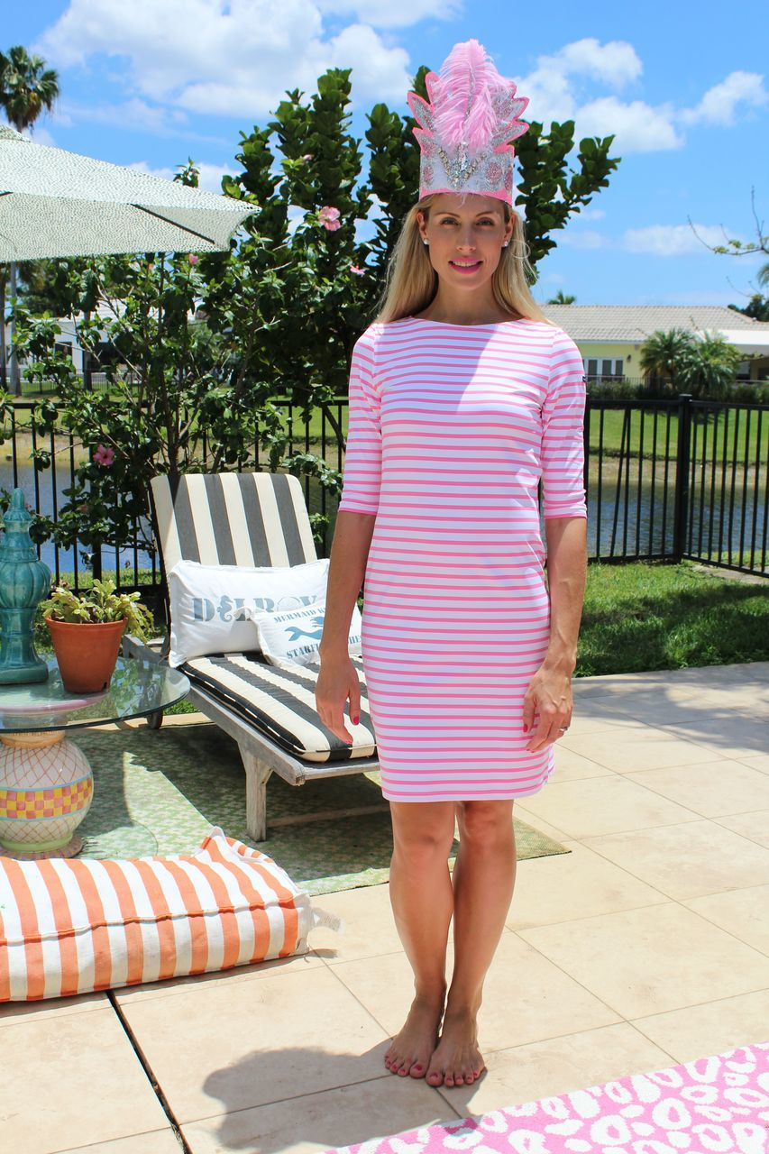 Saint James 3/4 Sleeve Stripe Dress