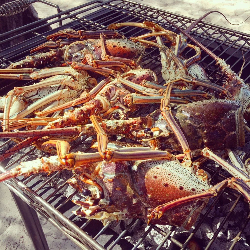Grilling up some local lobster to kick off the season