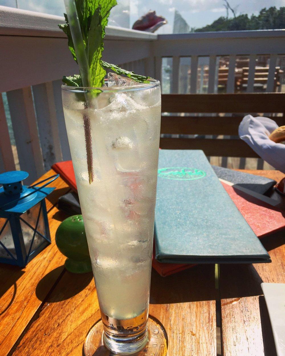The Elderflower Collins: vodka, lemon juice, simple syrup, elderflower, soda