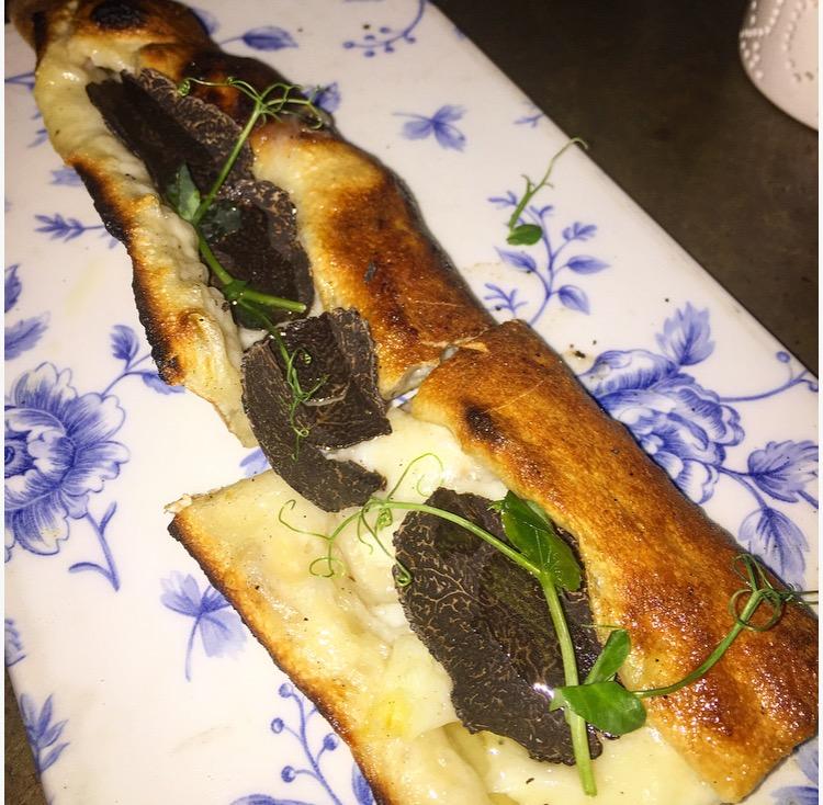 When you want some truffle try this Black Truffle Pide/Flatbread with buffalo mozzarella, halloumi and tartufata.