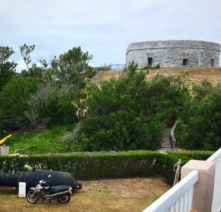 A glimpse of Fort St. Catherine from The Beach House restaurant.