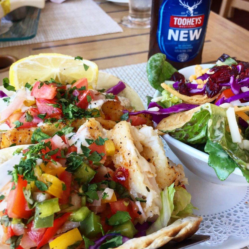 Tukka's infamous fully loaded lionfish tacos