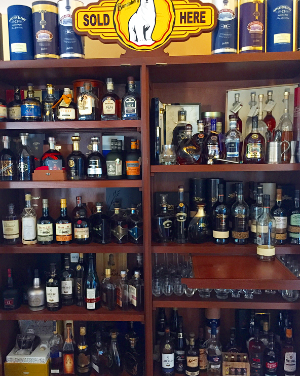 Chef Ron's Caribbean rum collection. Try their rum tasting flights for a unique experience.