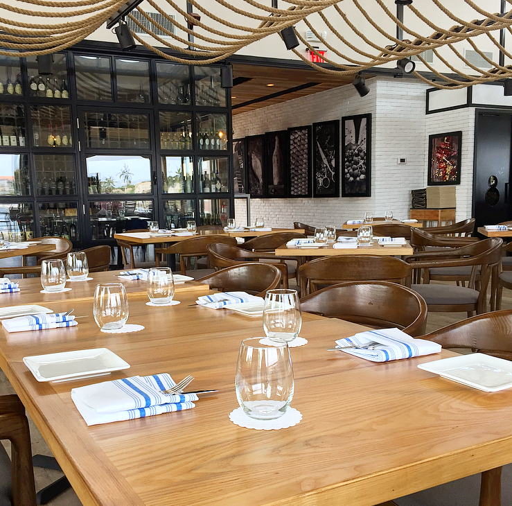 Indoor Seating and Wine Room at Bàcaro
