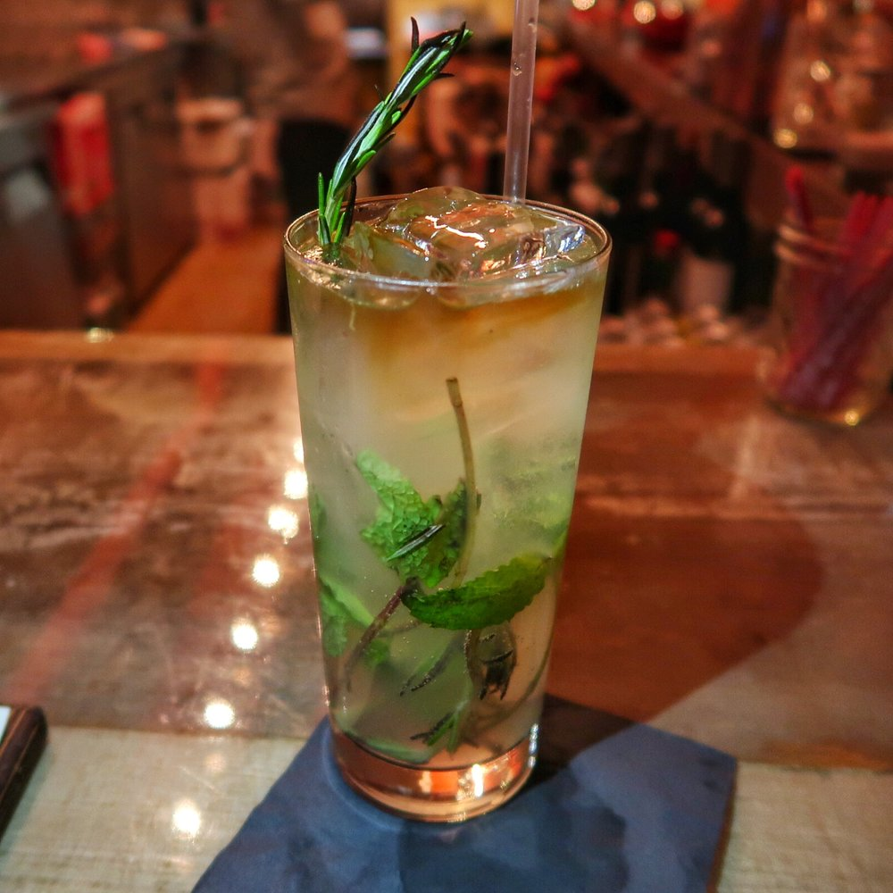 El Fresco - a refreshing cocktail with Pisco, lime, mint & Rosemary