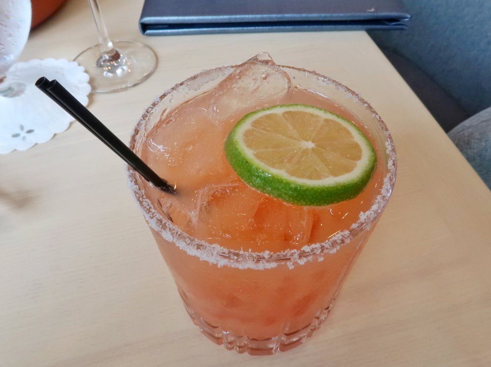 The Guava Rita: a simple blend of tequila, lime, guava and agave with a salted rim.