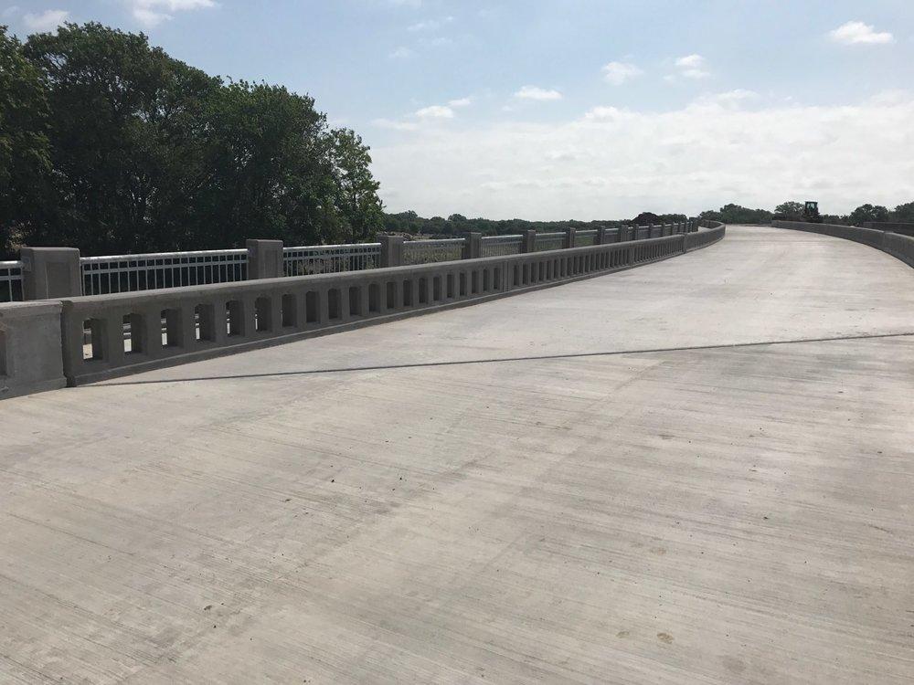 City of McKinney, Collin County, Texas             Job: Trinity Falls Parkway Extension Twin Bridges Progress Shot