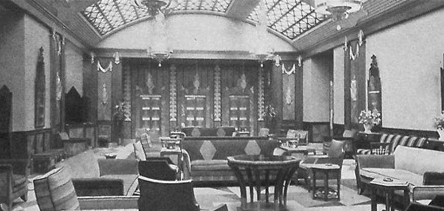 Original Lawrence House lobby 1928
