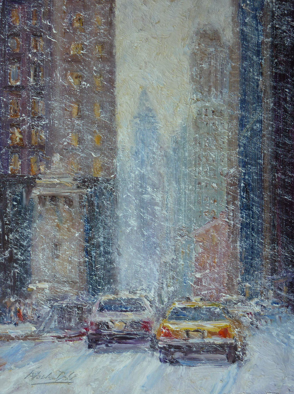 Michigan Avenue in Snow