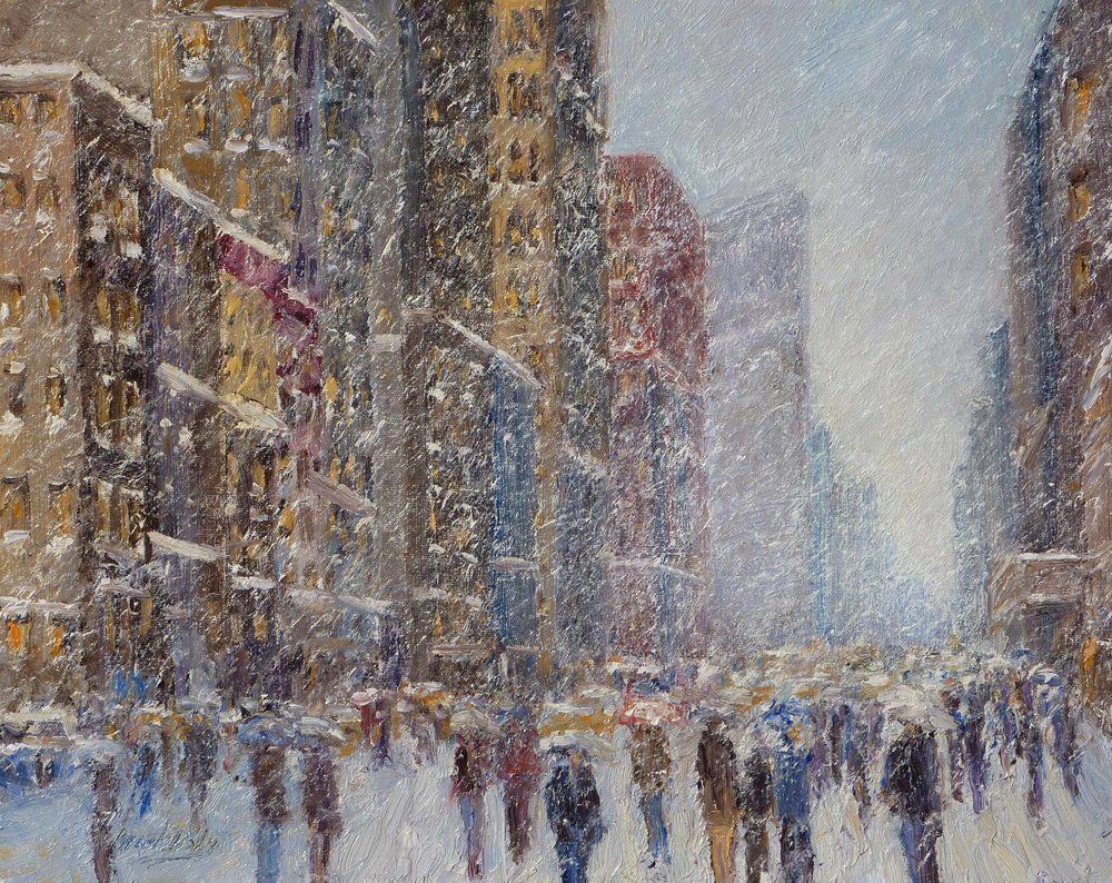 Rush Hour Snow Flatiron