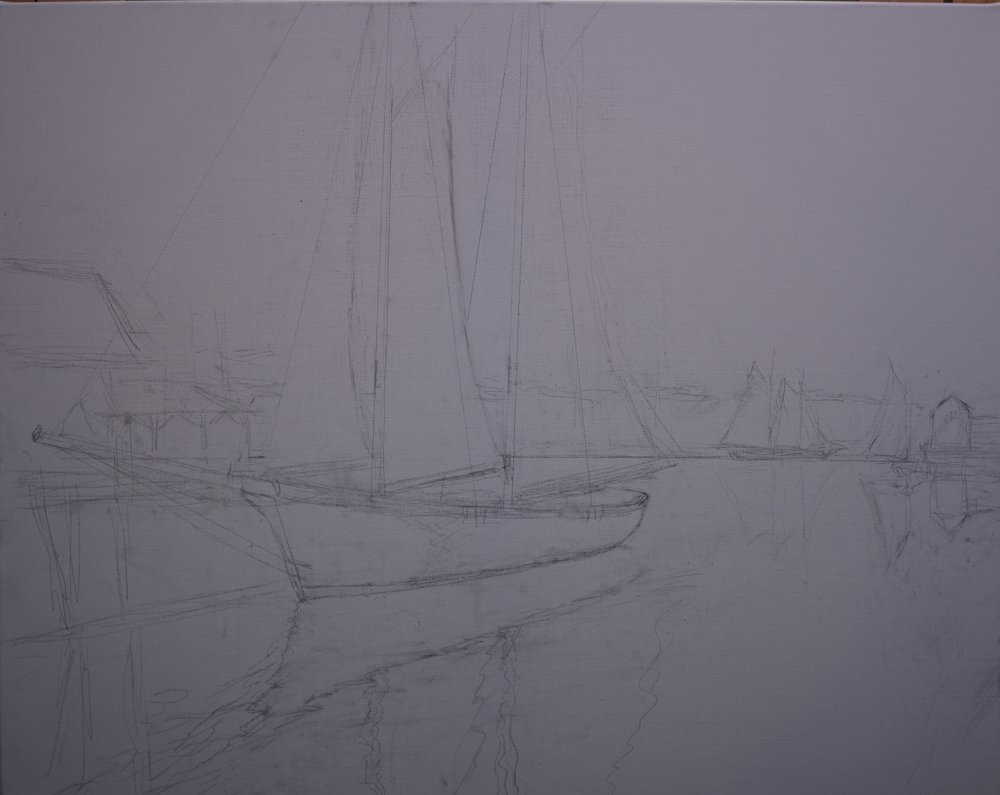 "Mark Daly's ""Golden Sails"" Drawing"