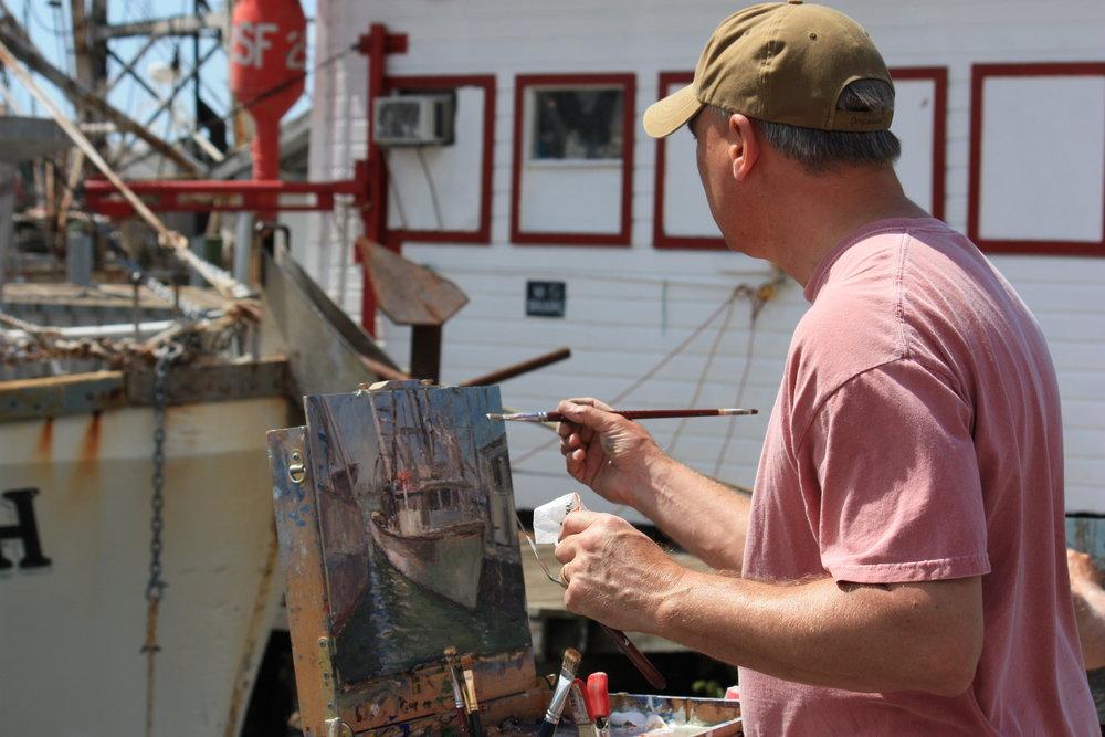 Mark Daly Painting San Carlos Island, FL.