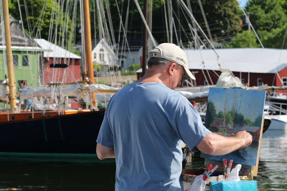 Mark Daly Painting Camden Maine