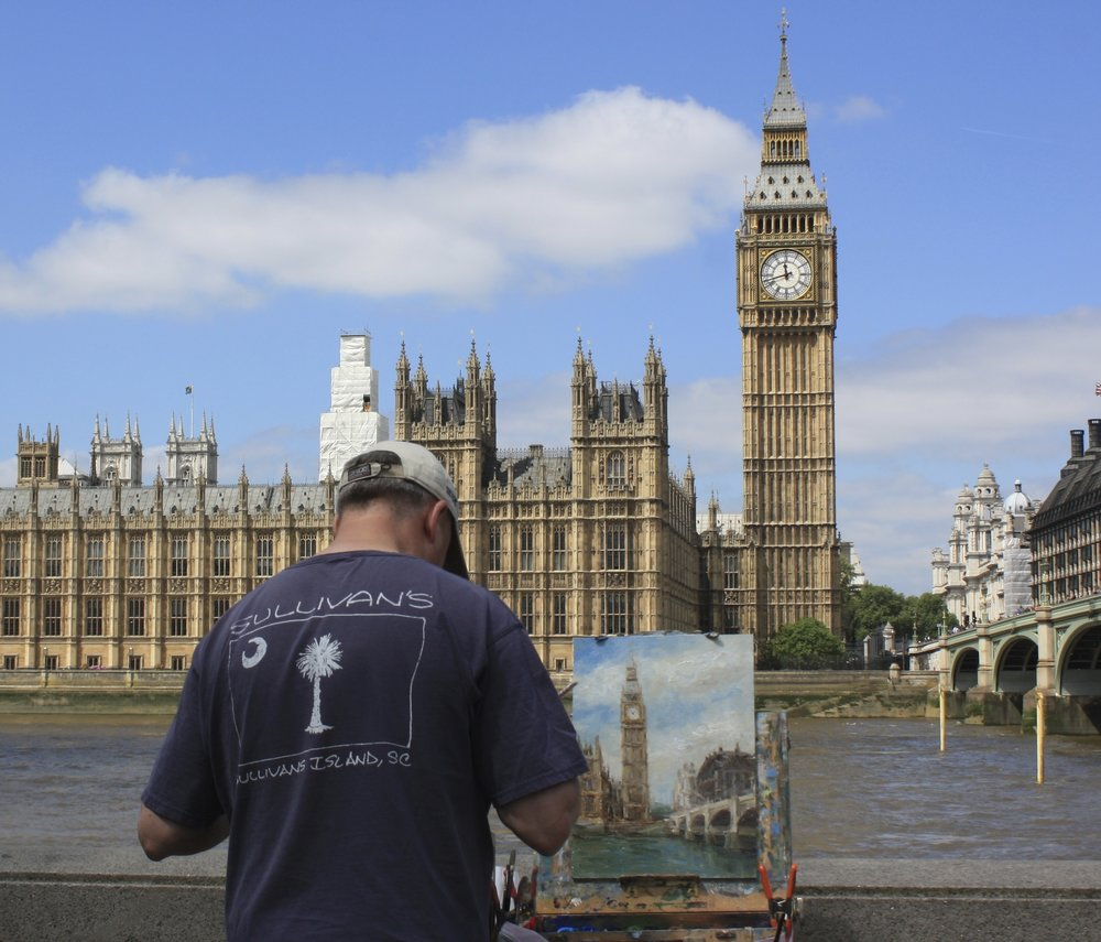 Mark Daly Painting Big Ben, London
