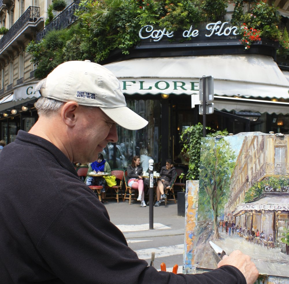 Daly Painting Cafe de Flore