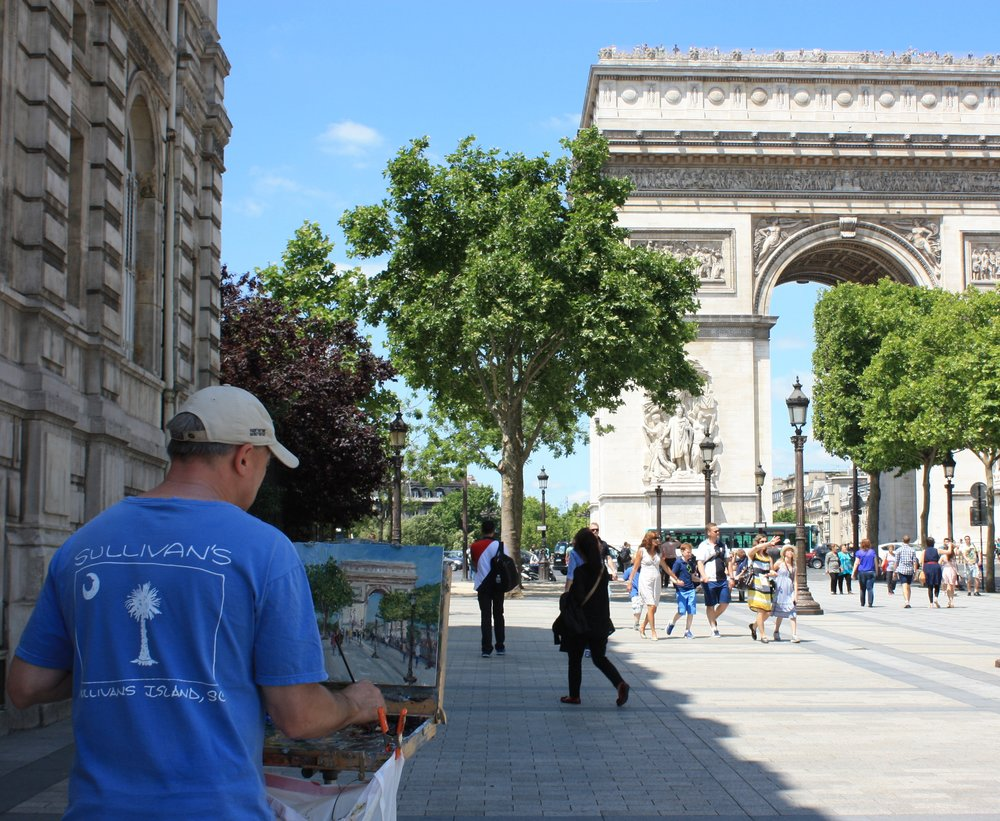Daly Painting The Arc de Triomphe