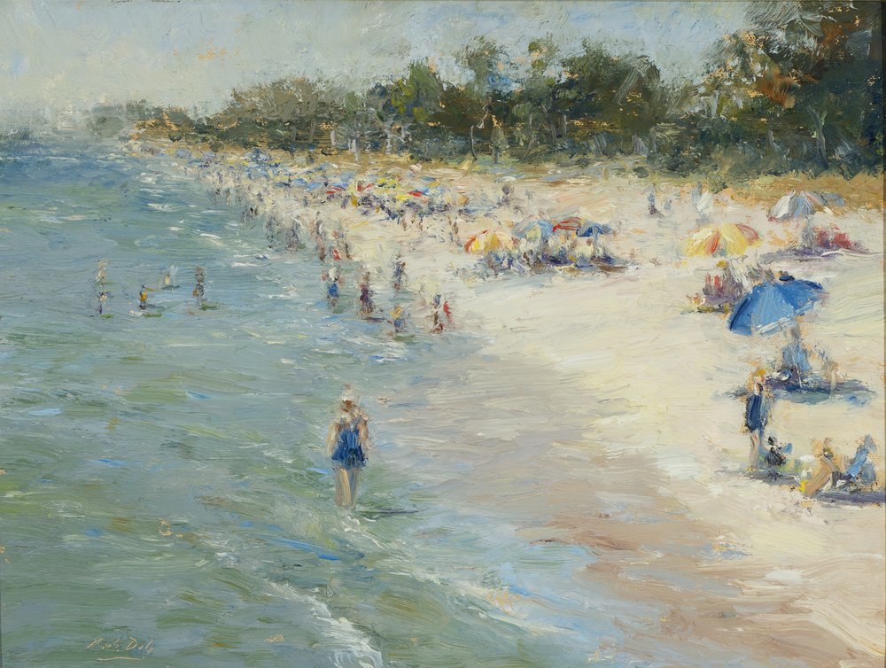 Mark Daly's High Tide Naples, Oil, 12 x 16. Sold by Rehs Galleries.