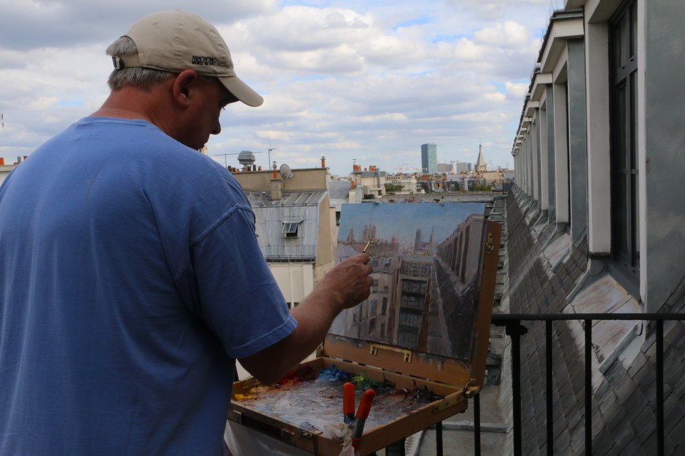 Painting Paris Rooftops