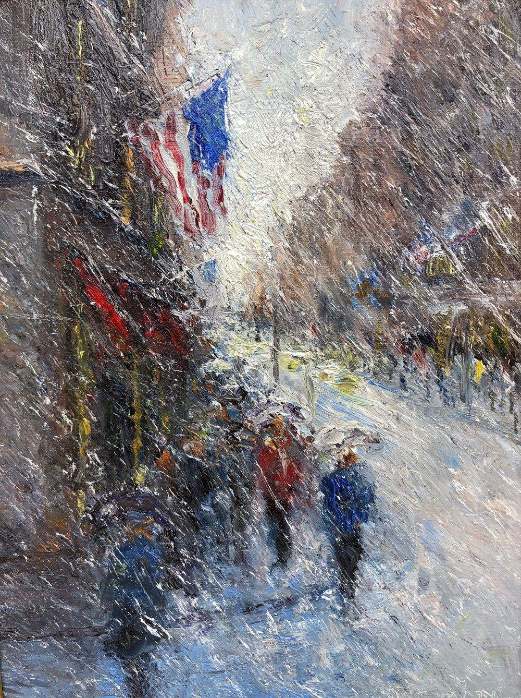Snowy Flags