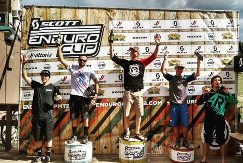 Jesse Calvin, 1st place in Men's Amateur at the Scott Enduro Cup, Angel Fire 2016.