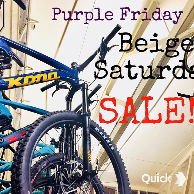 PURPLE FRIDAY///beige saturday SALE SALE SALE. Come on down for  discounts on in-store parts, accessories, horseshoes, and bikes! Ask about free foot massage. Friday and Saturday only.