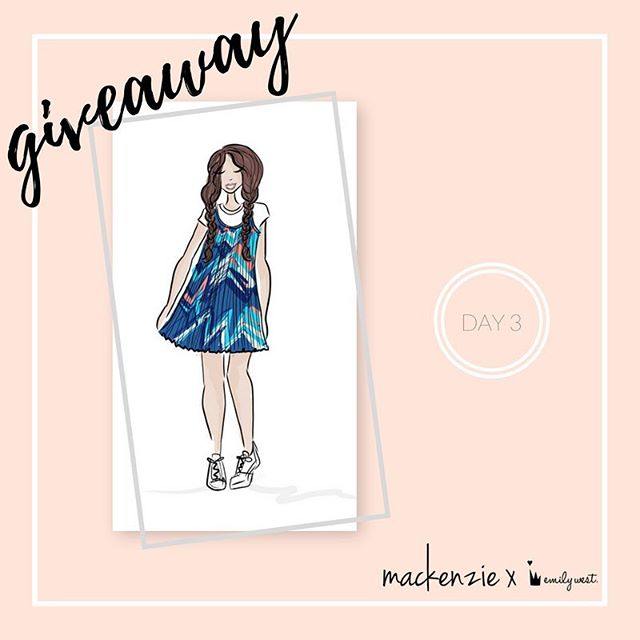 Back at it again with the signed sketch 👯 To win this original #mackenzieXemilywest sketch signed by @kenzieziegler, leave a comment below and let us know where you would wear the white tee & chevron pleated dress including #sweepstakes. -- Congrats to @ky.strobl for winning the #mackenzieXemilywest paisley patterned scuba dress! You're going to love it 💜 -- One comment per entrant. No purchase necessary. Open only to legal residents of 50 US/DC, 13+. Promotion runs March 19, 2017-March 23, 2017. Void where prohibited. Click the link in bio for official rules.