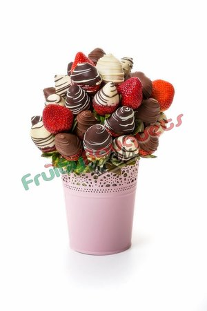 Chocolate Strawberry Vase Fruity Bouquets